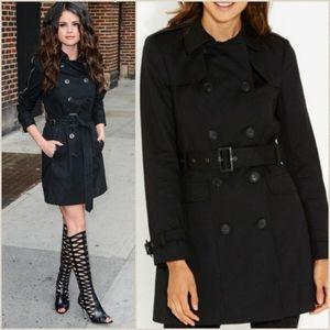 Luxe black trench coat